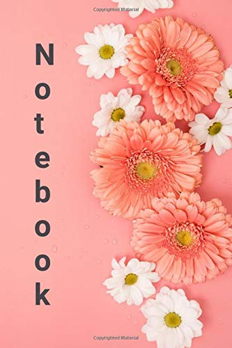 Notebook with Elegant and Classy Cover / 100 lined pages / Glossy soft cover: Floral design on every inner page / Daisies / Gerbera
