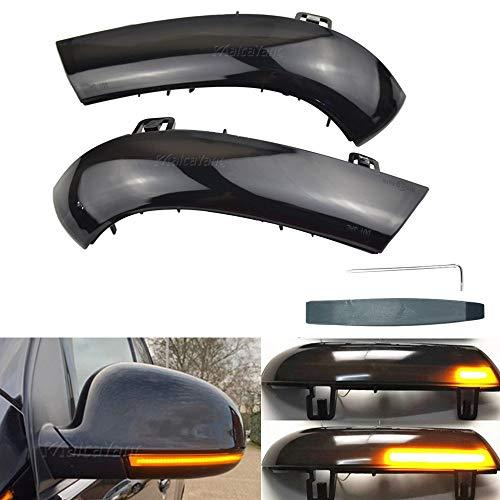 Links Rechts Spiegelblinker Dynamische LED Blinkerleuchten Blinker für Golf 5 Eos GTI Passat Sharan Superb Alhambra, mit E-Prüfzeichen