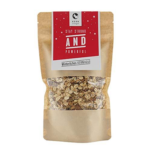 KERNenergie Winterliches KERNmüsli | 400g frisch auf Bestellung geröstete Nüsse in weihnachtlichem Müsli | festliches Müsli mit Nüssen in Premium Qualität