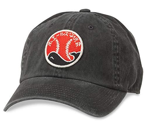 AMERICAN NEEDLE Nippon Japanese League Taiyo Whales Baseball Hat(44740A-NPL) Black