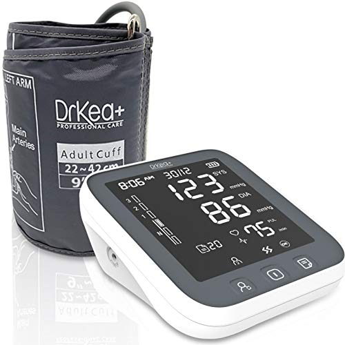 Large LED Backlit Automatic Blood Pressure Monitor Upper Arm - Blood Pressure Machine with Led Backlight - Accurate Bp Monitors Kit - 2 Users - 99 Memories with Batteries Included - Large Cuff