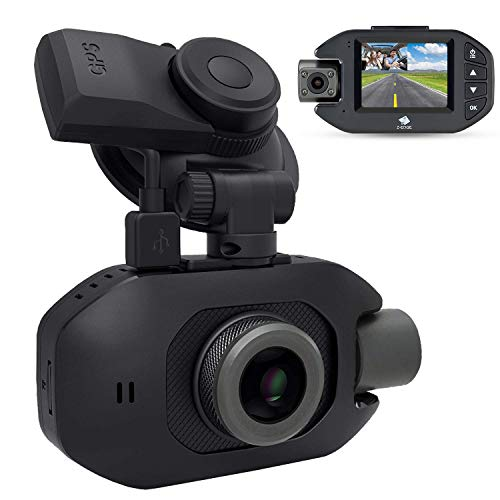 "Uber Dash Cam, Z-Edge Z3Pro 2.0"" Screen Infrared Night Vision Dual Dash Camera Front and Inside, Dual 1920x1080P Car Camera, with 32GB Memory Card, Sony Sensor, Supercapacitor, WDR, 150° Wide Angle"