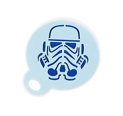 Star Wars Stormtrooper Schablone für Kaffee, 350 Mikron, Mylar, 8,5 cm