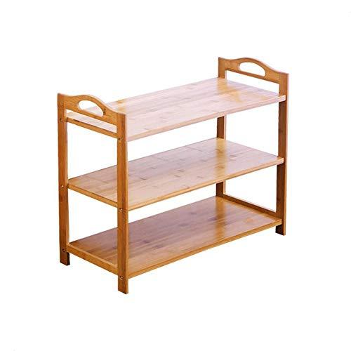 ZAIHW Zapatero Nan Bamboo, Simple, Multicapa, Moderno, económico, Montaje en el hogar, Dormitorio Multiusos, gabinete de Zapatos de bambú a Prueba de Polvo (tamaño: 50 * 26 * 88 cm)