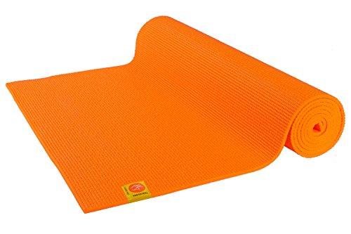 Chin Mudra Tapis de Yoga Confort Non Toxiques - 183cm x 61cm x 6mm - Orange Safran
