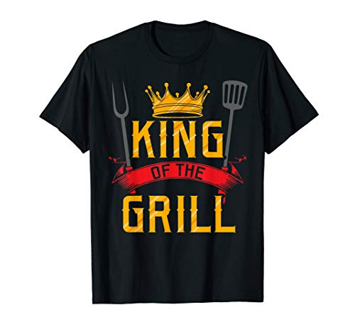 King Of The Grill Grilling Master Chef Cook Cooking BBQ Gift T-Shirt