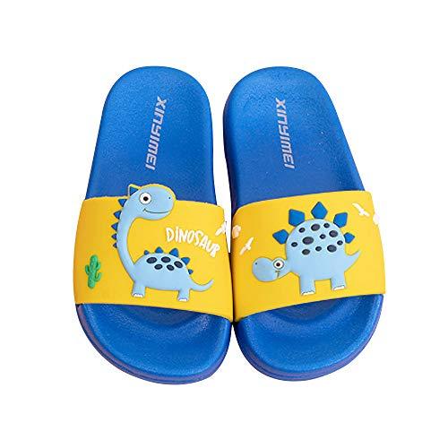 Zapatos de Playa y Piscina para Niña Niño Chanclas Sandalias Mujer Verano Antideslizante Zapatillas casa Hombre Zapatillas de Animal (Azul Oscuro, Numeric_29)