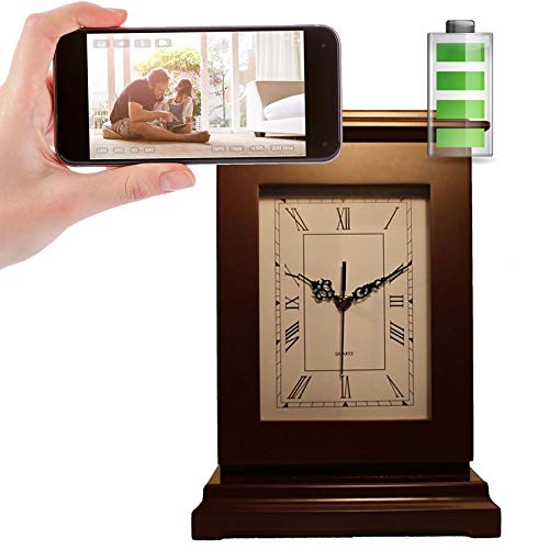 Great Features Of Spy-Max SG Home CVR Rectangle Clock Hidden Camera w/ 90-Day Battery + WiFi Cloud V...