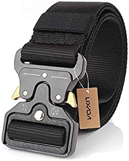 Nylon Military Waist Tactical Belt with Metal Buckle Adjustable