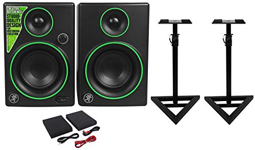 Best Deals! (2) Mackie CR3 3 Creative Reference Multimedia Monitors Speakers+Monitor Stands