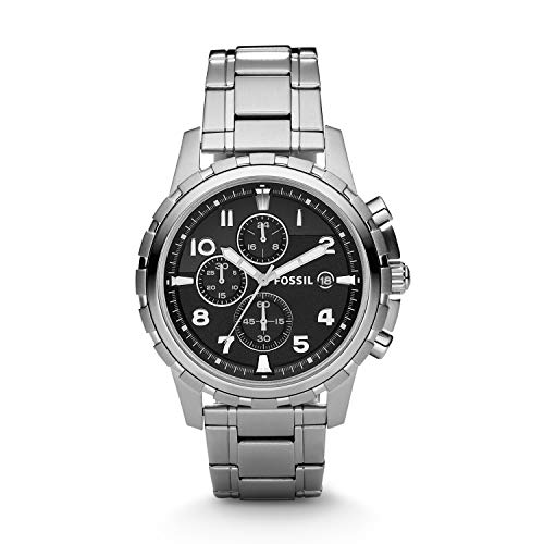 Fossil Men's Dean Stainless Steel Chronograph Watch, Color:...