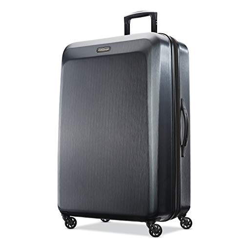 American Tourister Moonlight Hardside Expandable Luggage with Spinner Wheels, Anthracite, Checked-Large 28-Inch