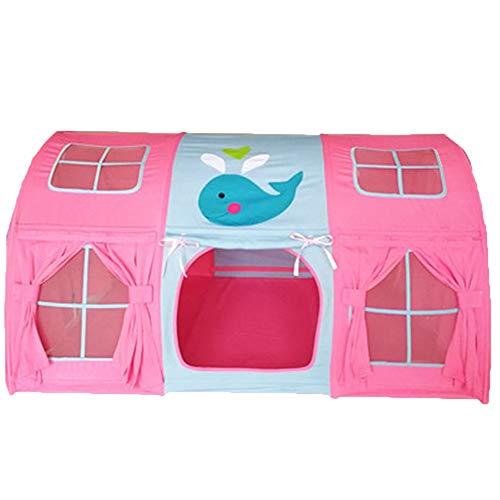 Spielzelt Kinderbett Theaterzelt, Sichtschutzzelt auf dem Bett, for gemütlichen Schlaf in zugigen Räumen - 140 cm × 100 cm × 75 cm