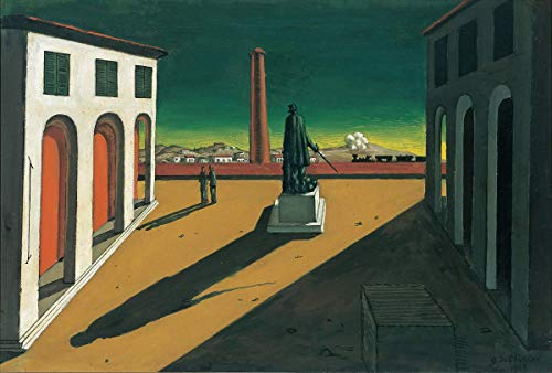 Berkin Arts Giorgio de Chirico Giclee Canvas Print Paintings Poster Reproduction(Plaza)