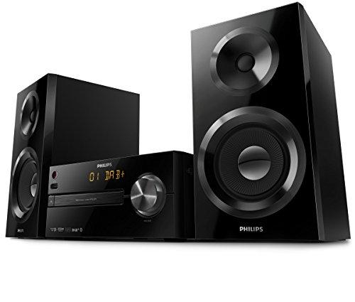Philips Mini Stereoanlage BTB2570/12 Stereoanlage DAB+ (Bluetooth, DAB+, USB Direct, UKW-Tuner, 70 Watt) schwarz