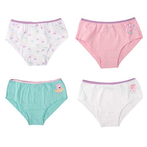 United Labels Peppa Wutz Mädchen Panty 4er Pack, Kinder Unterhose Unterwäsche (110/116)