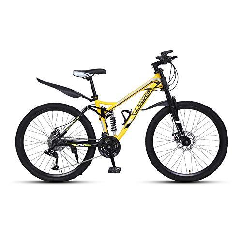 Bicicleta, Bicicleta de montaña, Freno de disco doble de 30 velocidades y Bicicleta de doble amortiguación, Para adultos y adolescentes, no es fácil de deformar, Se adapta a varios terrenos/B