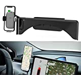 Topfit Cellphone Mount for Tesla Model 3 Model Y Monitor Fixed Clip Safety Cell Phone Holder Stand Wireless Charger Without Any Sound OEM Design