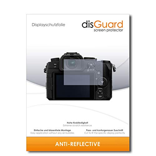 disGuard Bildschirmschutzfolie [Anti-Reflex] kompatibel mit Panasonic Lumix DC-G91 [2 Stück] Entspiegelnd, Matt, Antireflektierend, Extrem Kratzfest, Anti-Fingerabdruck - Panzerglas Folie, Schutzfolie