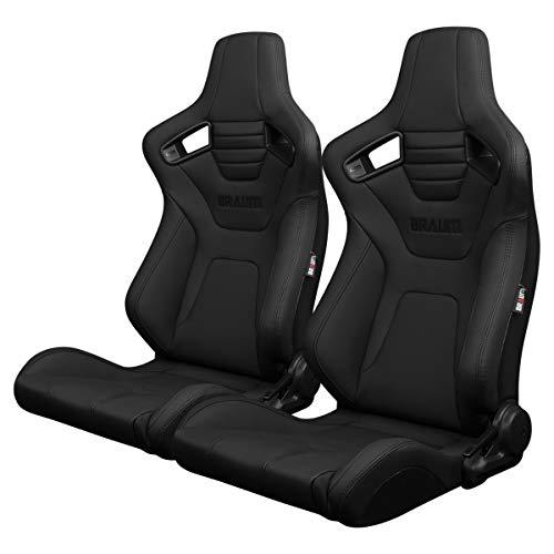 BRAUM BRR1X-BKUS ELITE-X Series Ultra Grip Fabric Racing Seats