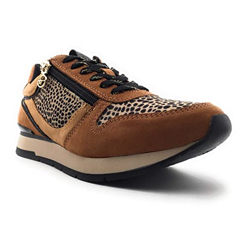 Tamaris 1-1-23604-27, Sneakers Basses Femme, Cognac Comb, 39 EU