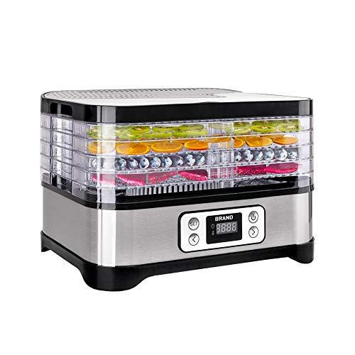 ITSLIFE Dörrautomat mit Temperaturregler, Dörrgerät für Lebensmittel, Obst- Fleisch- Früchte-Trockner, Gemüsetrockner Dehydrator, BPA-frei, 5 Etagen(Erneuerung des Dienstes in einem Jahr)