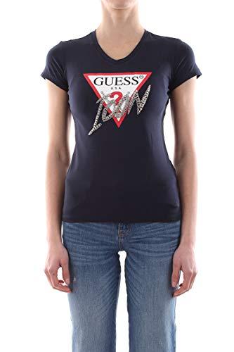 Guess W01I20 J1300 T-Shirt Damen Blu Navy XS
