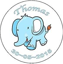 Novelty Personalised Baby Boy Christening Elephant 7.5