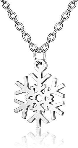 Collar de copo de nieve de acero inoxidable para collares de mujer