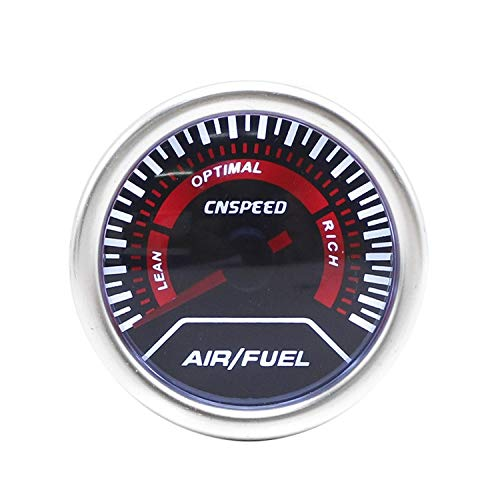 "lplpol Echtzeit 2""52mm Auto Air Fuel Gauge Rauch Objektiv Air Fuel Ratio Gauge Super Helle -Beleuchtung Auto Meter kompatibel"
