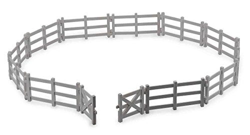 Collecta Corral Fence with Gate Vinyl Toy Fencing