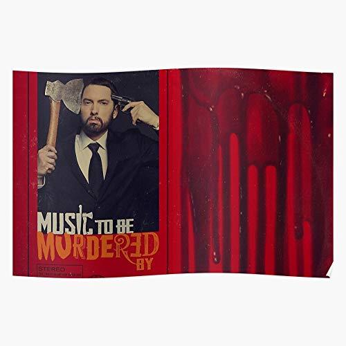 Young Rap Black New Red Artist Eminem American Album Geschenk für Wohnkultur Wandkunst drucken Poster 11.7 x 16.5 inch