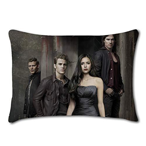 heizifang Custom Ian Somerhalder Damon Salvatore The Vampire Diaries Home Decoration Zippered Pillow Cases 20x30 (Twin Sides) (Damon-06)