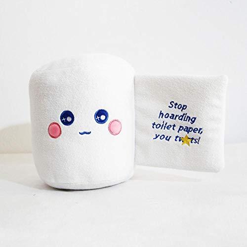shenlanyu Stofftier 22cm Toilettenpapier Plüschtier Niedlich Gefüllte Plüsch Toilettenpapier Weiche Puppe Kreative Lustige Puppe