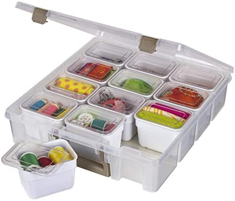 ArtBin Super Satchel 1 Compartment Box Clear Gold 1 Pack With Bins product image