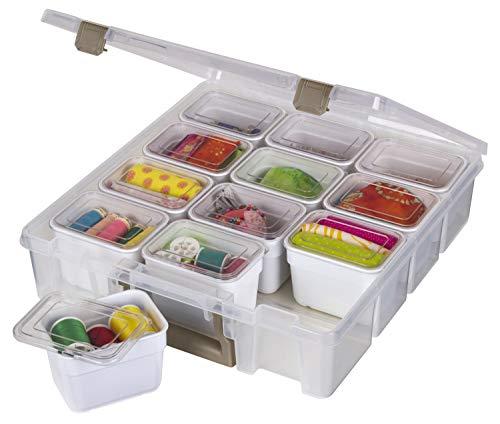 ArtBin Super Satchel Box mit 1 Fächer, transparent und gold, 1 Stück, mit Behältern