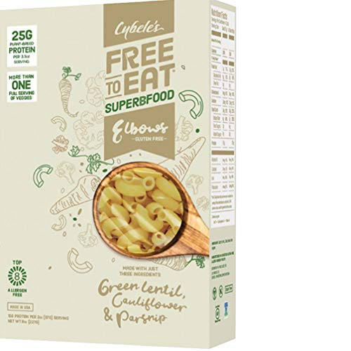 Cybele's Free to Eat Superfood Veggie Pasta - Superfood White, Elbows - 8 Oz Box