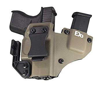 Fierce Defender IWB Kydex Holster Compatible with Glock 43 +1 Series W/Claw -Made in USA-  Flat Dark Earth