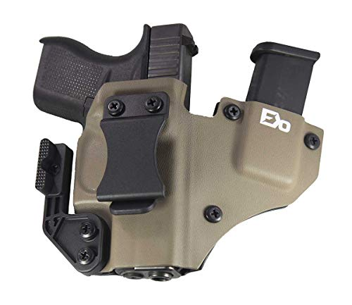 Fierce Defender IWB Kydex Holster Compatible with Glock 43'+1 Series W/Claw -Made in USA- (Flat Dark Earth)
