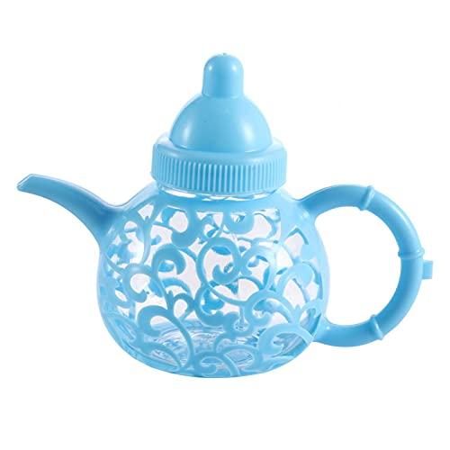 Pwshymi Fiesta de cumpleaños del bebé del envase de la Botella del Tenedor del Caramelo de la Caja del Caramelo del Estilo Europeo plástico para la Boda(Blue)