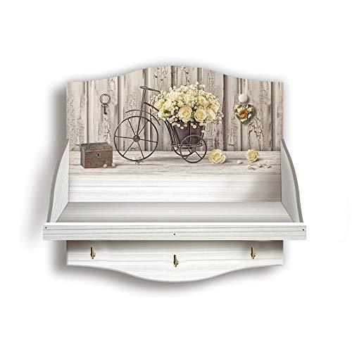 Mensola Portabarattoli multiuso, organizer per utensili cucina, salvaspazio 33x33 cm SHABBY Yellow Roses