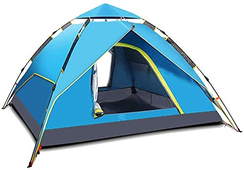 Portable outdoor tent 3-4 hydraulic automatic outdoor camping tent canopy shade waterproof tarp to mountain hiking picnic shelter sun
