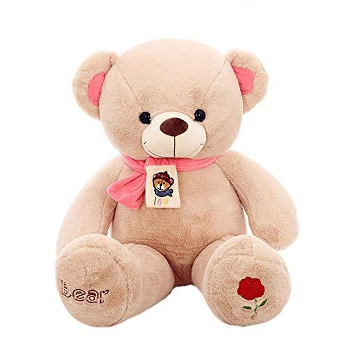 Pluche Sjaal Teddy Bear Doll Knuffel Korte Pluche Grote Beer Doll-Beige Sjaal Bear_135cm