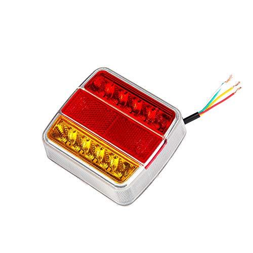 ETUKER Pilotos LED Remolque, 12V Impermeable Universal Piloto Trasero Remolque Luces de Freno Traseras Con Lámpara De Matrícula, Para Camión/RV/Caravana/Luces Remolque Traseras (Bombillas 10 LED)