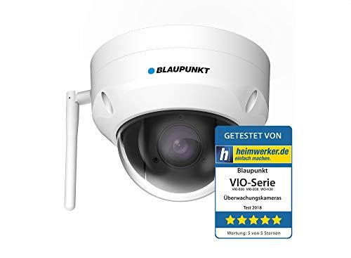 Blaupunkt PTZ Überwachungskamera VIO-DP20 mit Full-HD I Videoüberwachung per App I WLAN & LAN Netzwerkkamera I 355° Schwenken, 90° Neigen I IP Kamera mit Bewegungserkennung I Weiß