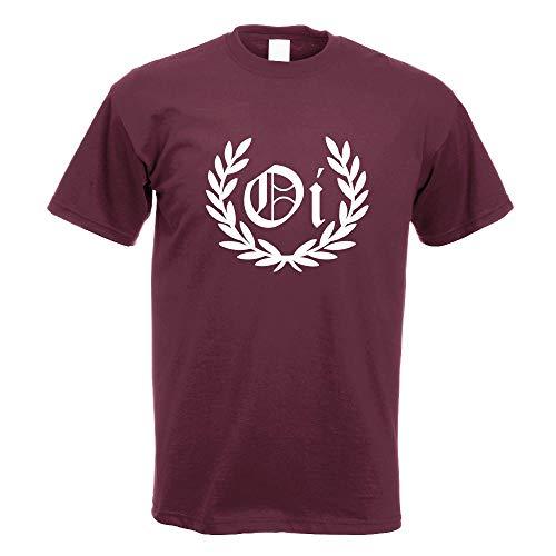 OI! Lorbeerkranz Punk Hardcore T-Shirt Motiv Bedruckt Funshirt Design Print
