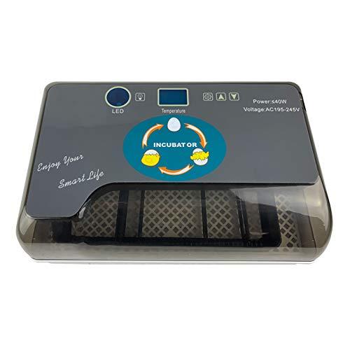 Mini incubatrice per 24 uova con sistema di rotazione automatico e allarme temperatura e umidità