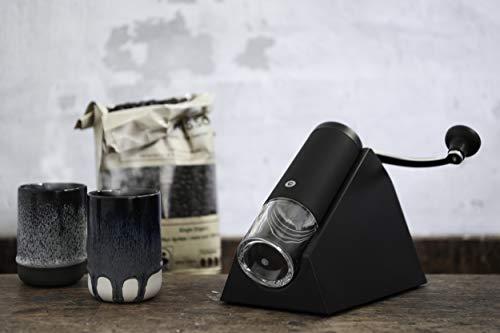 CrushGrind Brazil manuelle Kaffeemühle mit Keramikmühle, schwarz