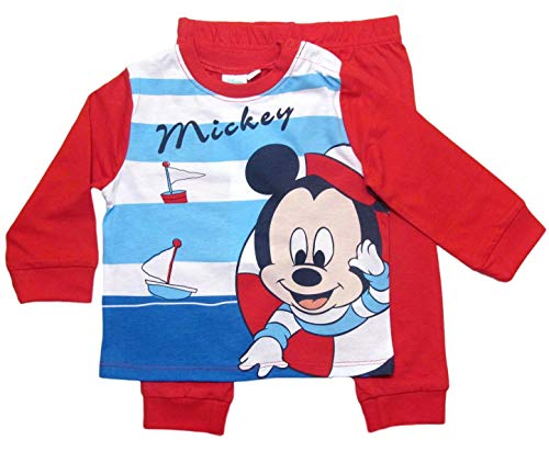 Mickey Mouse Mickey Mouse Schlafanzug Jungen Lang Rot (74-80)