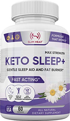 Keto Sleep Aid Sleeping Pills - All Natural Proprietary Blend - 5-HTP, Magnesium, Cofactor B6 for Serotonin Boost, Sleep & Mood Support Supplement for Women & Men - Made in USA - 60 Capsules